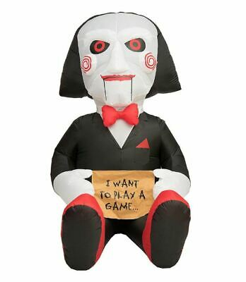 7 Ft BILLY THE PUPPET FROM SAW Airblown Yard Inflatable I WANT TO PLAY A GAME