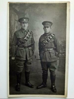 WWI Australian 2 Soldiers ANZAC Digger Photograph- Light Horse Troopers, 1917