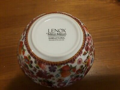1 LENOX MELLI MELLO - ISABELLA FLORAL Dipping / Sauce Bowl - Used Ex Condition