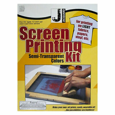 NEW ON SALE Jacquard Screen Printing Kit - semi - transparent colour