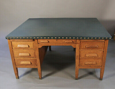 1910 Arts And Crafts Mission Very Large  Partners desk(12080)