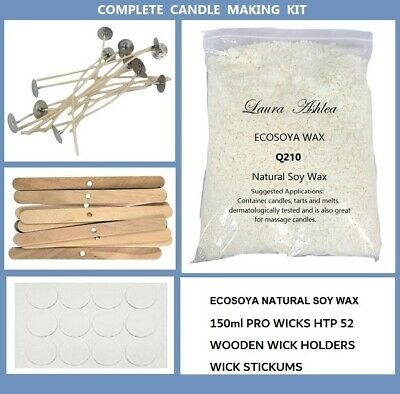100% SOY WAX CANDLE MAKING KIT - CHOOSE YOUR SIZE 1.5, 2, 3 kg - ALL INCLUDED