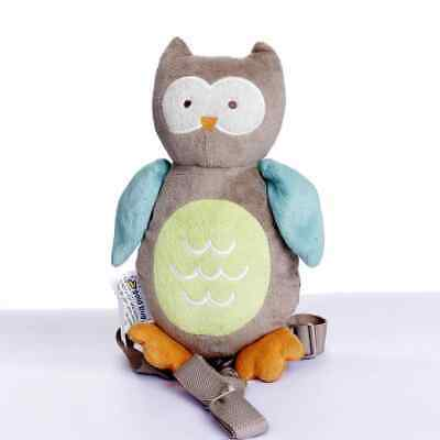 Safety Harness Strap Baby Kid Toddler Walking Backpack Reins Owl NEW