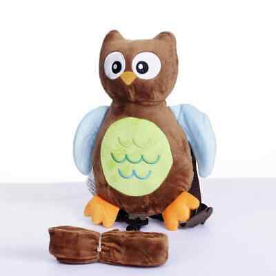 Safety Harness Strap Baby Kid Toddler Walking Backpack Reins Brown Owl