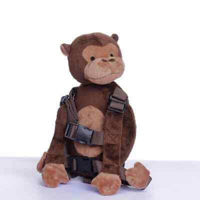 Safety Harness Strap Baby Kid Toddler Walking Backpack Reins Lovely Monkey NEW