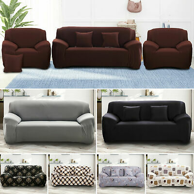 1/2/3/4 Seater Sofa Covers Slipcover Elastic Stretch Settee Protector Couch UK