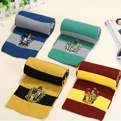 Harry Potter Scarf Gryffindor Slytherin Cosplay Knit Wool Wrap Halloween Costume