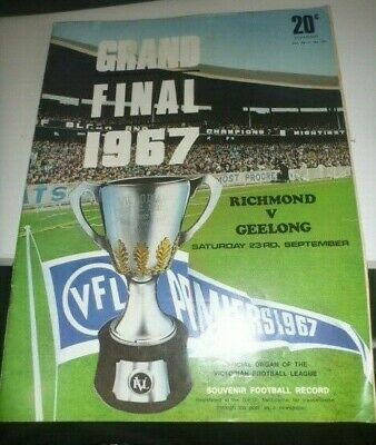 1967 Grand Final Record Richmond V Geelong Nice Item
