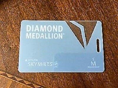 Delta Airlines Skymiles PLATINUM Medallion Luggage Tags/Cards
