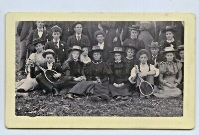 1894 Board Photo Bridgewater Picnic Students Adelaide Business College F71
