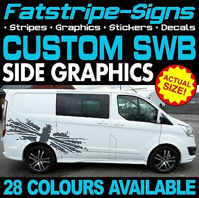 Ford Transit Custom Swb Graphics Stickers Stripes Decals St M Sport 2.2 Day Van