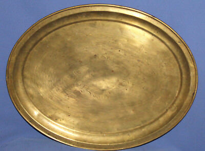 Antique Art Deco Brass Floral Engraved Serving Tray