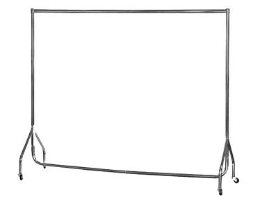 Garment Rails SILVER HEAVY DUTY 3ft,4ft,5ft,6ft Hanging Clothes Shop Displays ❤