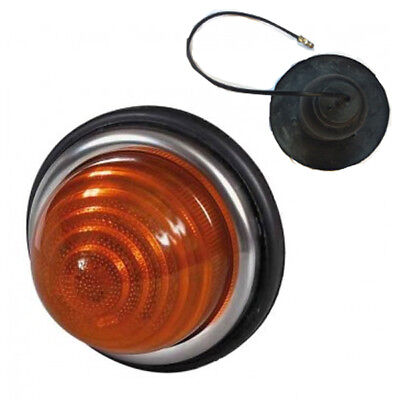 Durite 0-160-00 Classic 72mm Round Domed Amber Indicator Lamp