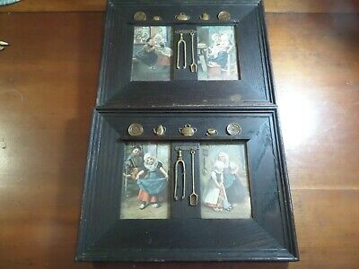 Most Unusual Pair Of Oak Double Opening Arts & Crafts Picture Frames C. 1890