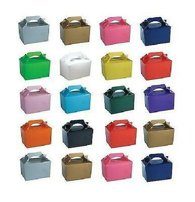 Coloured Party Boxes For Kids Children Food Loot Lunch Gift Birthday Box Bags