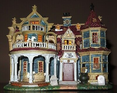 Lemax Spooky Town Village Animated Musical, BLACK CAUDRON INN.ORG BOX,  RETIRED