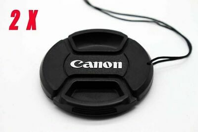2pcs 58mm Snap-On Lens Cap Cover for Canon EF-S 18-55mm IS, Lens  600D  UK Stock