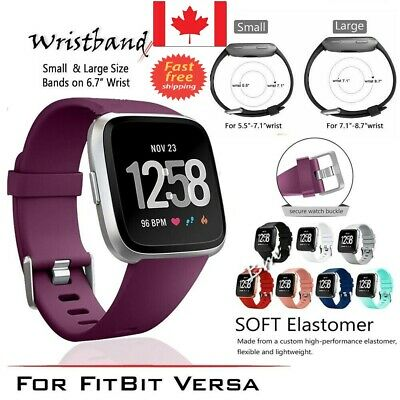 Replacement Silicone Band Wrist Strap For Fitbit Versa Band Large Small 5 Colour