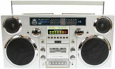 Portable Retro Ghetto Blaster With Bluetooth DAB, Cassette, FM, CD And Aux