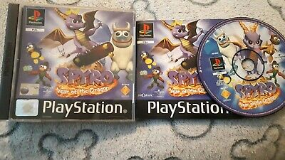 Spyro: Year of the Dragon (Sony PlayStation 1, 2000) complete black label manual
