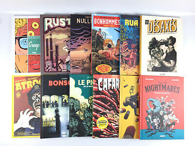 Lot 12 BD AAARG Edition / Chronique De Nulle Part Rustin Creep Bonsoir (magazine