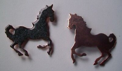 15X Copper Blanks for enameling use- HORSE  ANIMAL shape