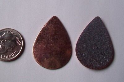 20X Copper Blanks for enameling use- MEDIUM TEARDROP shape-COUNTER ENAMELED