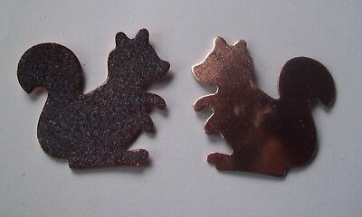 10X Copper Blanks for enameling use- SQUIRREL  shape-ANIMAL