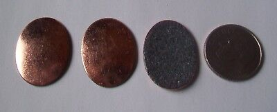 19X Copper Blanks for enameling use- SMALL OVAL shape-COUNTER ENAMELED