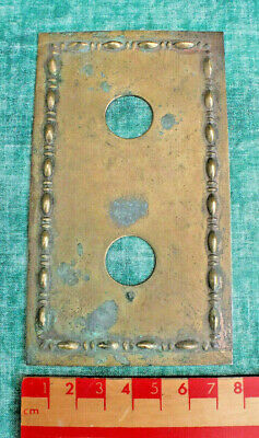 Antique Reclaimed Bronze / Brass Double Light Switch Cover Plate