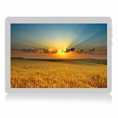 4G Android8.0 Tablet PC 10 Inch Dual WiFi 2+32GB 1280X800 IPS Display (Blanco)