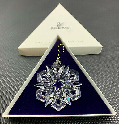 Swarovski 1999 Annual Christmas Snowflake Star Crystal Ornament (19-2451)