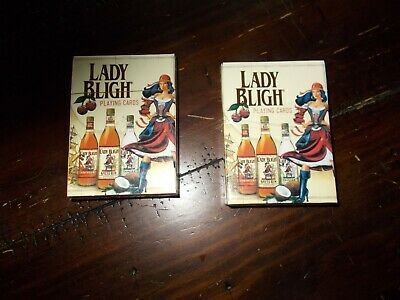 2 Decks of Lady Bligh Spiced Rum Playing Cards