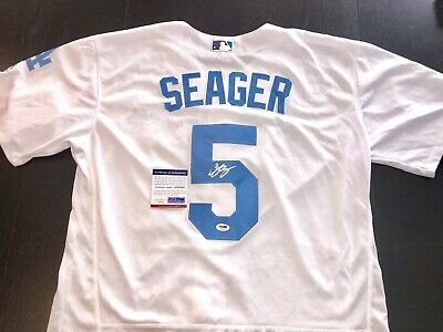 Corey Seager Hand Signed Los Angeles Dodgers Father's Day Jersey PSA DNA MLB