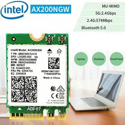 Intel AX200NGW Wi-Fi 6 AX200 802.11ax Dual band MU-MIMO Wifi Network Bluetoo WP.