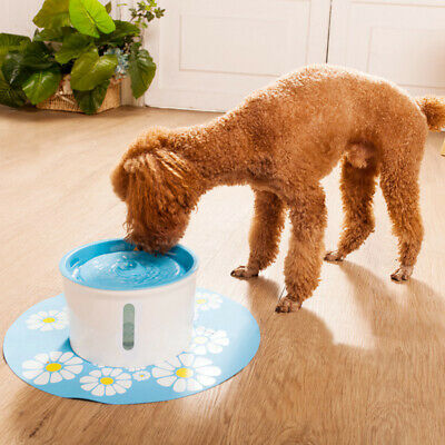 1.6L Automatic Electric Pet Water Fountain Dog Drinking Bowl Cat  Waterfall Bowl
