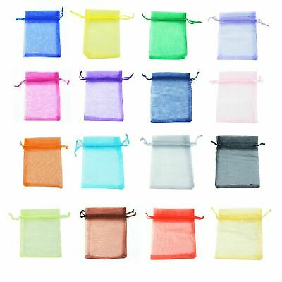 25 / 50 ORGANZA BAGS Wedding Party Favour Gift Candy Jewellery Pouch Large Small