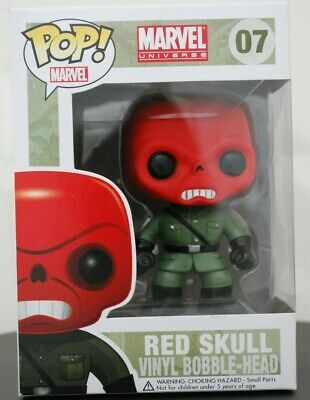 Funko Pop! Marvel Red Skull #07 (w/Soft Protector&DoubleBoxed)-NewVaultedRetired
