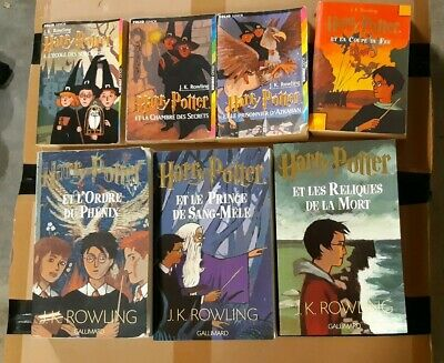 Lot De 7 Livres Harry Potter 4 Poche 3 Grands Formats