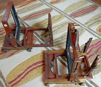 2 X Mahogany And Brass Part Plate Camera Bodies For Camera Restorers