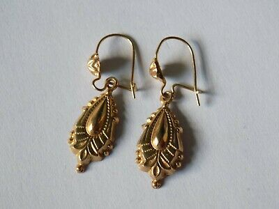 Antique Solid Gold Late Georgian / Early Victorian Etruscan Earrings. STUNNING !