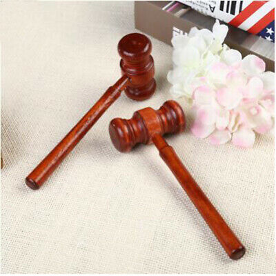 Wooden Handcrafted Hammer Wood Gavel Sound Block for Lawyer Judge Auction Sale S