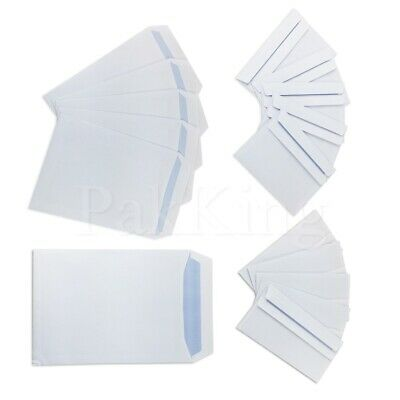 Any Size/Any Qty WHITE PLAIN PAPER ENVELOPES 90gsm Self Seal Office Letter
