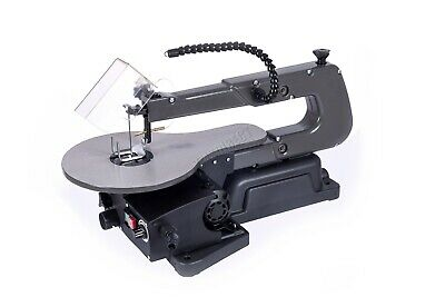"""SwitZer 16"""" Variable Speed Scroll Fret Saw 125W With Blade LED Lamp Dust Blower"""