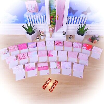 PINK MINI LETTERS Set 25 - Fairy Envelopes Notes Gift Tags Cards HANDMADE in Aus