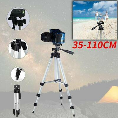 UK Telescopic Camera Tripod Stand Phone Holder Travel For Phone Camera 35-110cm