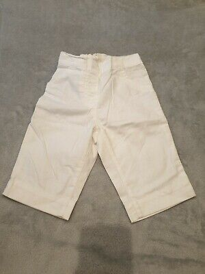 Baby Girls White Linen Trousers, Next, 9-12 Months, Ex Condition
