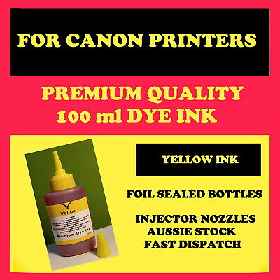Canon compatible, Premium quality refill, bulk YELLOW dye ink