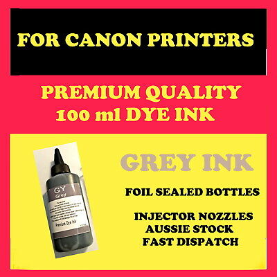 Canon compatible, Premium quality refill, bulk GREY dye ink